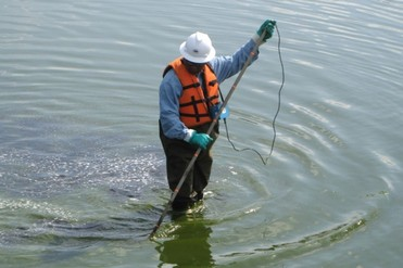 Leak Location Services Inc Geomembrane Survey Liner Integrity Surveys ASTM Logo Shallow Water Survey