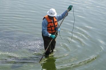 Leak Location Services Inc Geomembrane Survey Liner Integrity Surveys ASTM Logo Shallow Water Survey